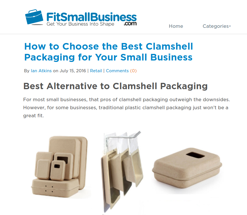 Best Alternative to Plastic Clamshell Packaging